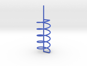 Helix Spiral For Soap Experiments in Blue Strong & Flexible Polished