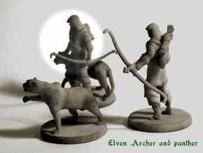 Elven Archer / Beastmaster in White Strong & Flexible