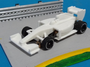 HO F1 2014 Slot Car Body in White Strong & Flexible Polished