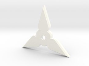 Shuriken Pendant in White Strong & Flexible Polished