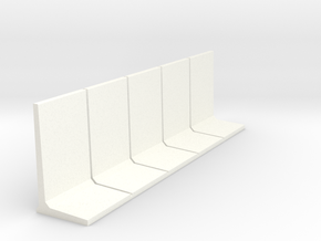 HO Retaining Wall 3000mm 5pc in White Strong & Flexible Polished