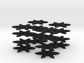 1:6 scale Ninja 6 Point Star X16 pcs in Black Acrylic