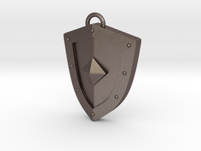 Simplistic Shield Pendant in Stainless Steel