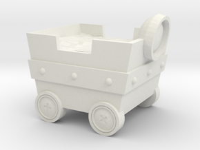 Mine cart in White Strong & Flexible