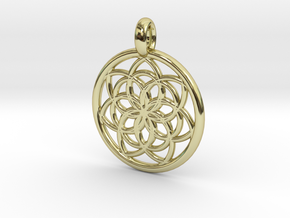 Kale pendant in 18K Gold Plated