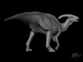 Parasaurolophus 1/72 in White Strong & Flexible