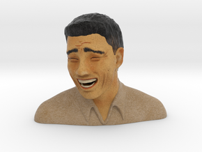"Yao Ming ""Meme"" Face in Full Color Sandstone"