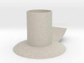 Candle holder with handle full version ø 21 mm in Sandstone