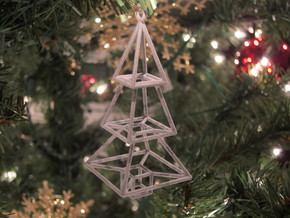 Christmas Tree Ornament in Metallic Plastic