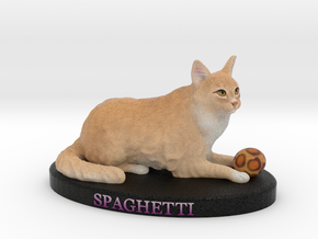 Custom Cat Figurine - Spaghetti in Full Color Sandstone