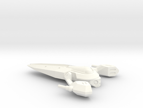 Aurek Strike Fighter in White Strong & Flexible Polished