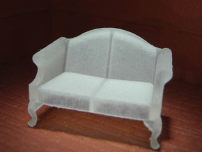 1:48 Queen Anne Loveseat in Frosted Ultra Detail