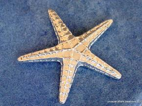 Starfish Pendant in Polished Silver