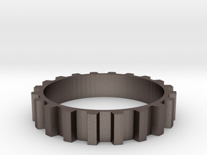 Gear Ring (Sz 7) in Stainless Steel