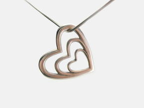 Tre Pendant in Polished Silver