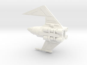 Davaab-type Mandalorian Fighter in White Strong & Flexible Polished