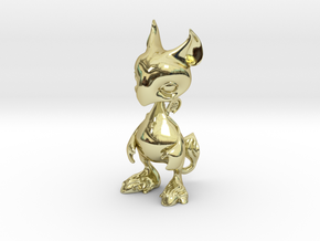 Baby Gryphon figurine 60mm in 18K Gold Plated