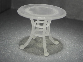 1:48 Rod Iron Table in Frosted Ultra Detail