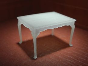 1:48 Queen Anne Dining Table in Frosted Ultra Detail
