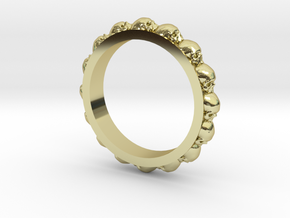 Skull Eternity Style Size 11 in 18k Gold Plated