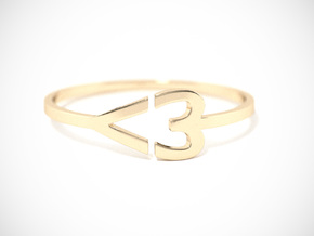 I <3 Ring Size 7.5 in 18k Gold Plated
