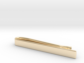 Tie Bar (plain) in 14k Gold Plated