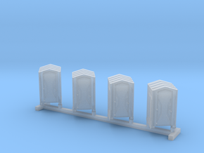 Z Scale Portable Toilet 4pc in Frosted Ultra Detail
