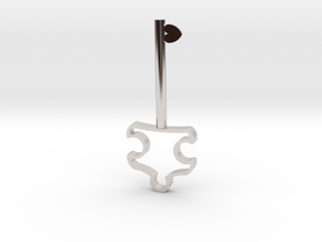 Autism Key Pendant in Rhodium Plated