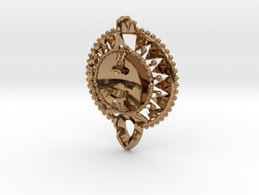 Self Reflection Pendant in Polished Brass
