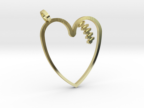 Mended Heart Pendant in 18k Gold Plated