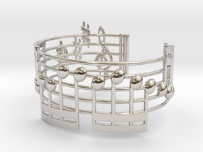 Bach Music Bracelet in Rhodium Plated