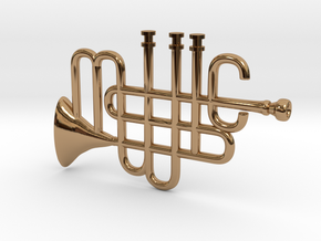 Music Pendant in Polished Brass