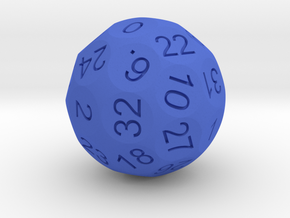 D36 Sphere Dice numbered from 0 to 35 in Blue Strong & Flexible Polished