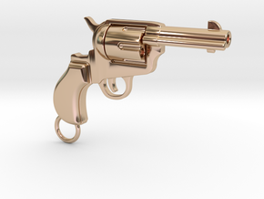 Gun pendant Colt in 14k Rose Gold Plated