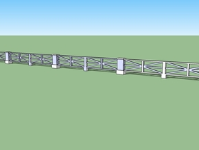 Large star railing single HO in White Strong & Flexible