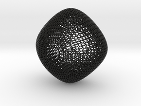 Chandelier (round honeycomb) in Black Strong & Flexible