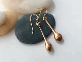 Teardrop Earrings - Bronze Age Earrings for Today in Raw Bronze