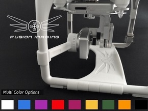 DJI Phantom Gimbal Guard (V2) in White Strong & Flexible Polished