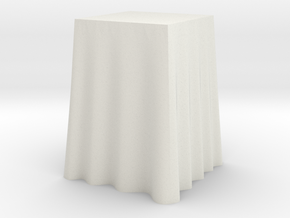 """1:24 Draped Bar Table - 24"""" square in White Strong & Flexible"""