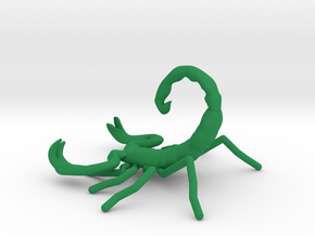 Scorpion Phone Holder in Green Strong & Flexible Polished