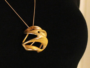 Hugukissu Pendant (#2092) in Polished Gold Steel