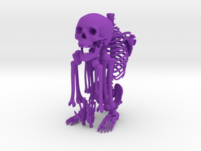 Mr Bones -- Customizable Articulated Skeleton in Purple Strong & Flexible Polished