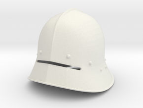 1:6 sallet Helmet 6th small size in White Strong & Flexible