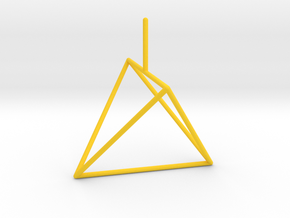 Wire Model for Soap: Tetrahedron in Yellow Strong & Flexible Polished