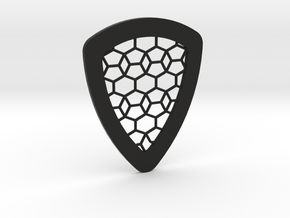 Tessellation Guitar Pick in Black Strong & Flexible