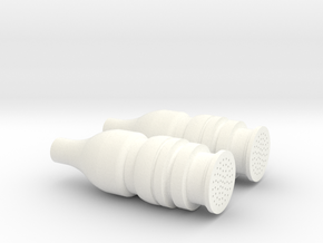 Apollo RCS Engine Plugs 1:2 in White Strong & Flexible Polished