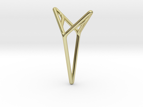"""""""A Line"""" YOUNICA, Pendant in 18k Gold Plated"""
