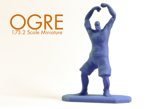 Ogre Figurine in Blue Strong & Flexible Polished