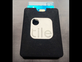 Wallet for Tile (Tracking Device) in Black Strong & Flexible