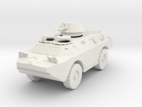 MV01B BRDM 2 Scout Car - hatches open (28mm) in White Strong & Flexible